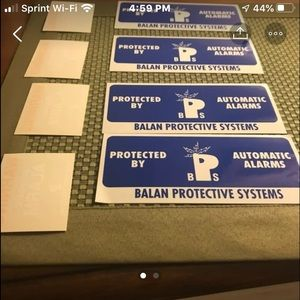 Bundle of 8 peel & stick security stickers